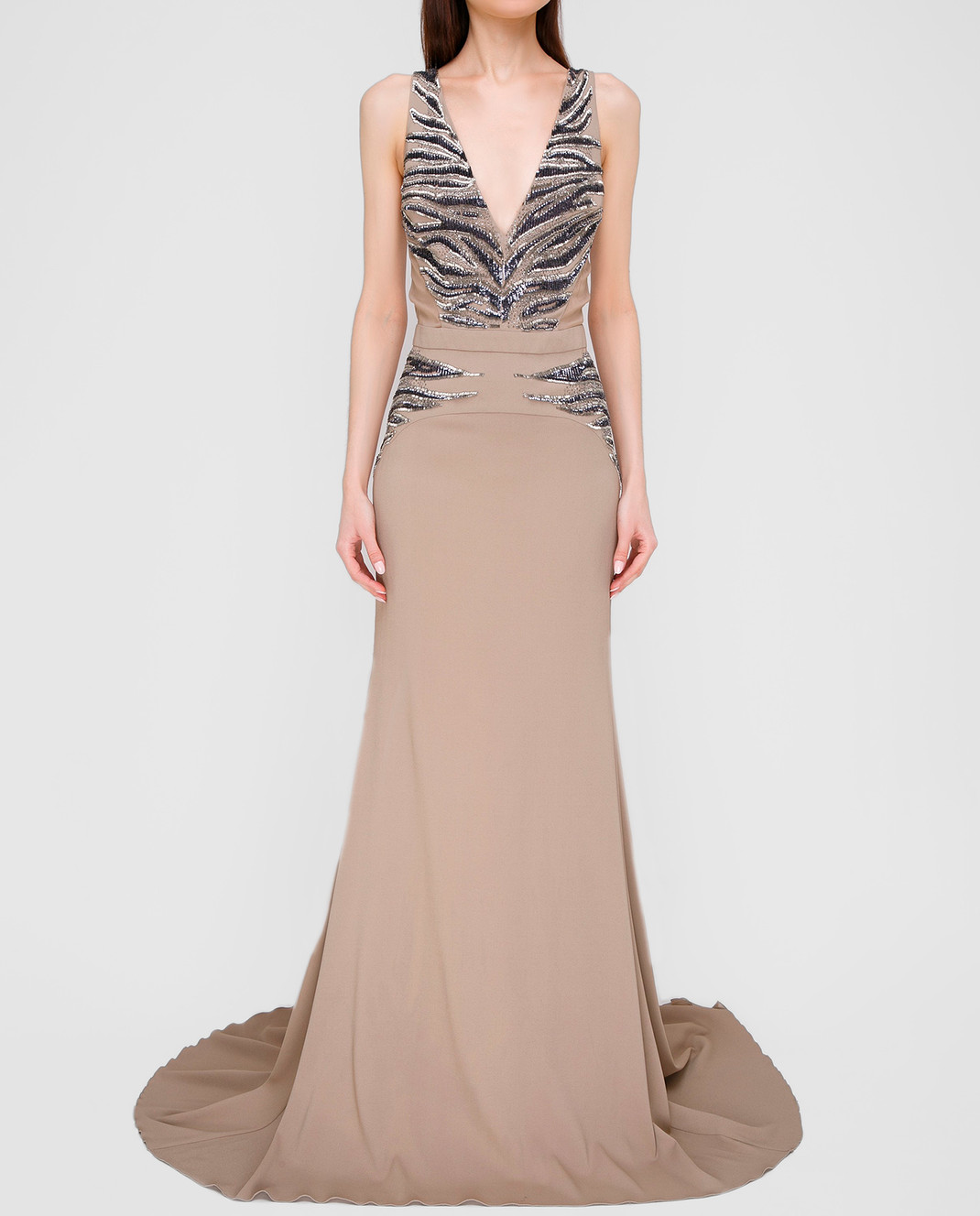 Roberto Cavalli Серое платье XPR912 изображение 3