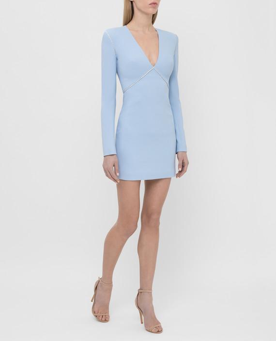 Голубое платье с кристаллами hover