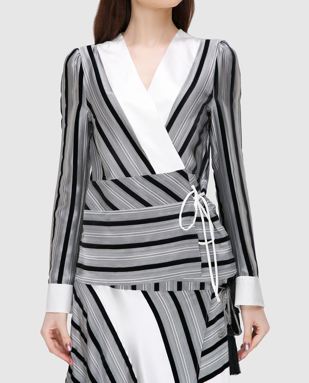 Etro Серая блуза из шелка D16097 изображение 3
