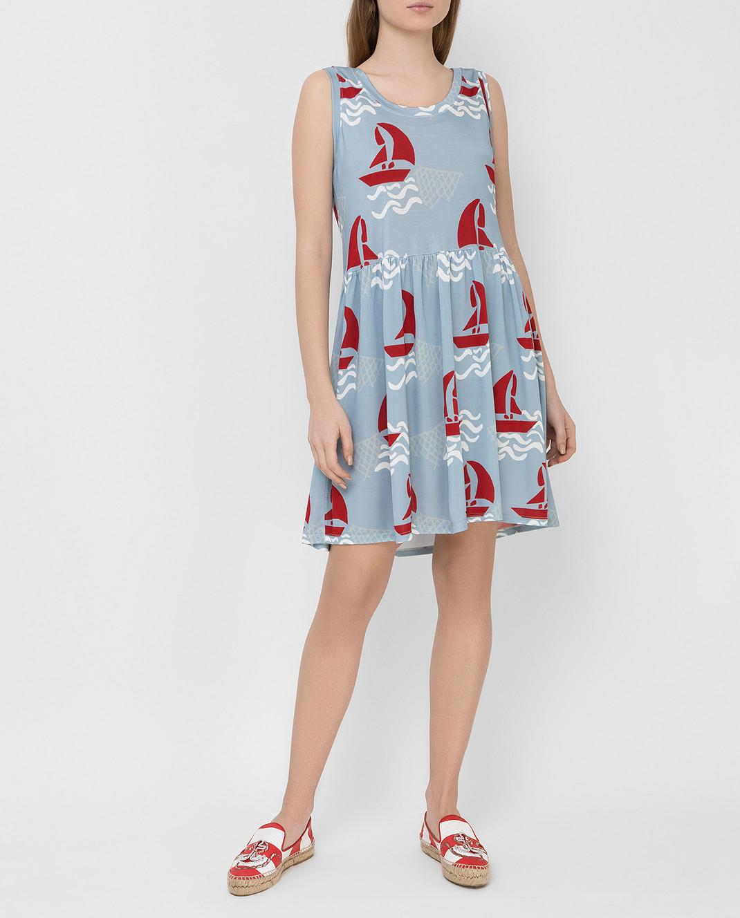 Tak.Ori Голубое платье DR010 изображение 2