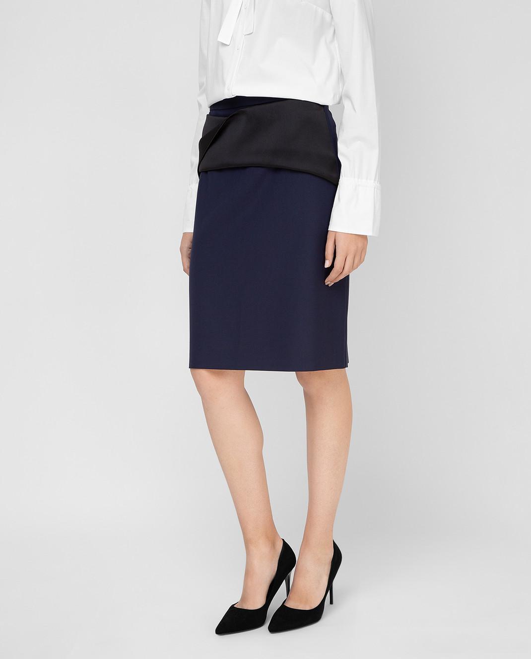 Balenciaga Темно-синяя юбка 373614 изображение 3