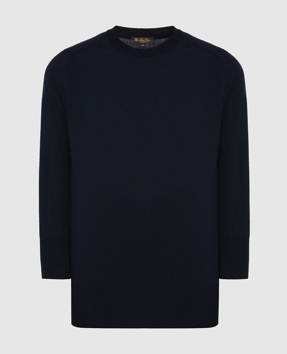 Темно-синий джемпер из кашемира