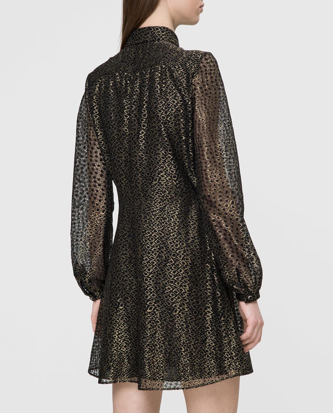 Saint Laurent Золотистое платье изображение 4