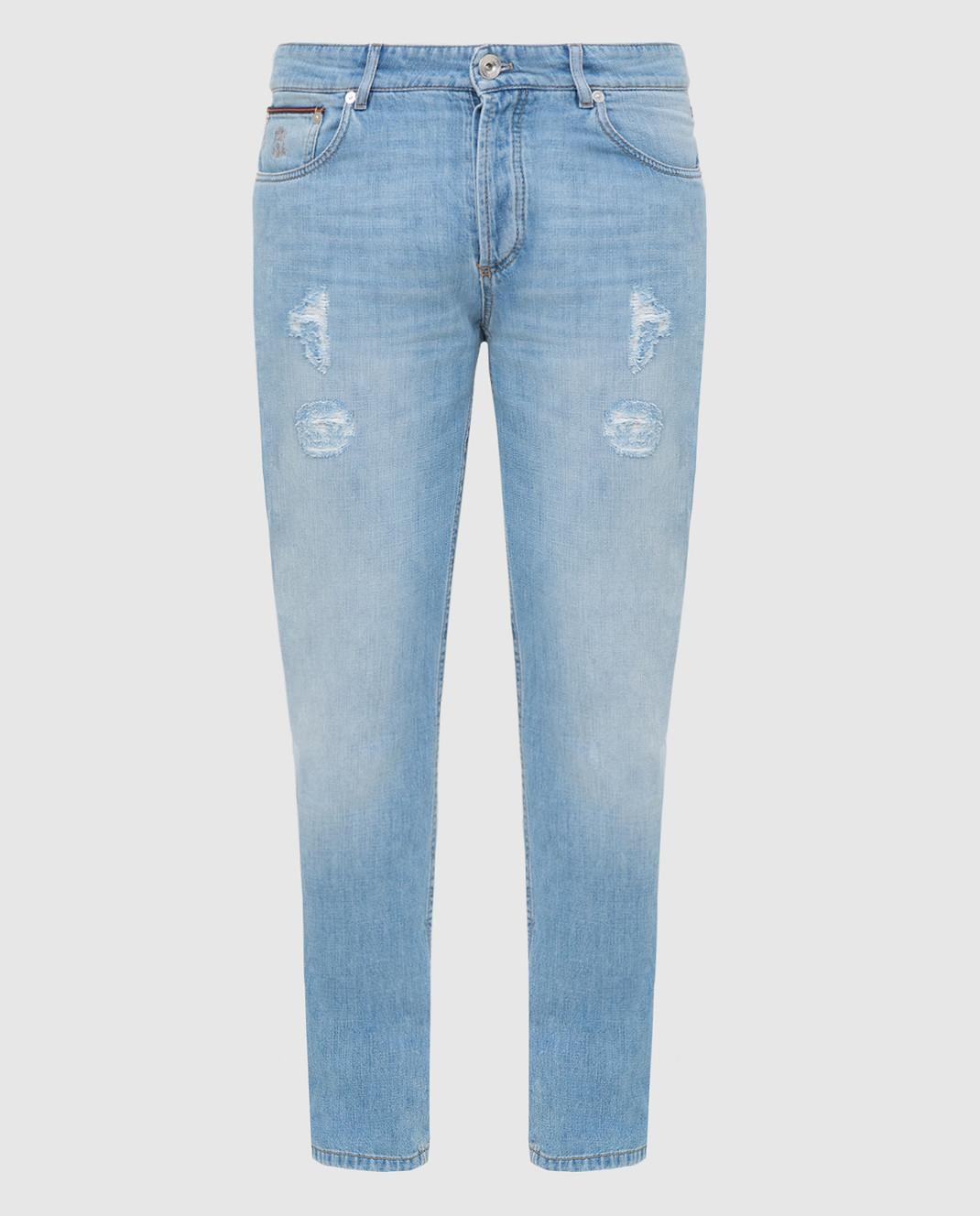 Brunello Cucinelli Голубые джинсы M0Z37D2360