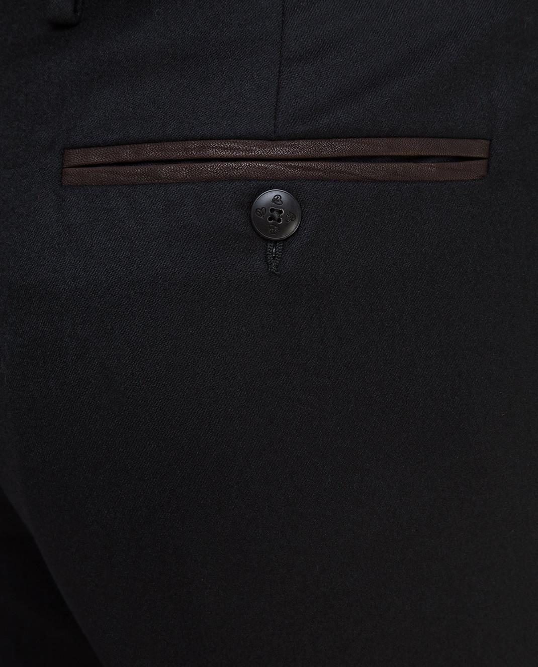 Castello d'Oro Черные брюки из шерсти изображение 5