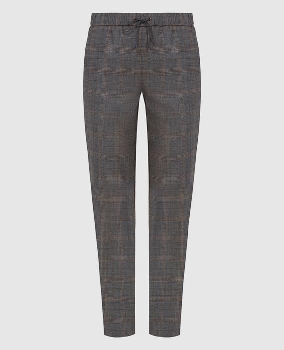 Серые брюки из шерсти