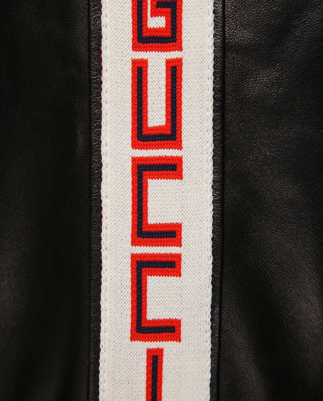 Gucci Коричневый кожаный бомбер 501174 изображение 5