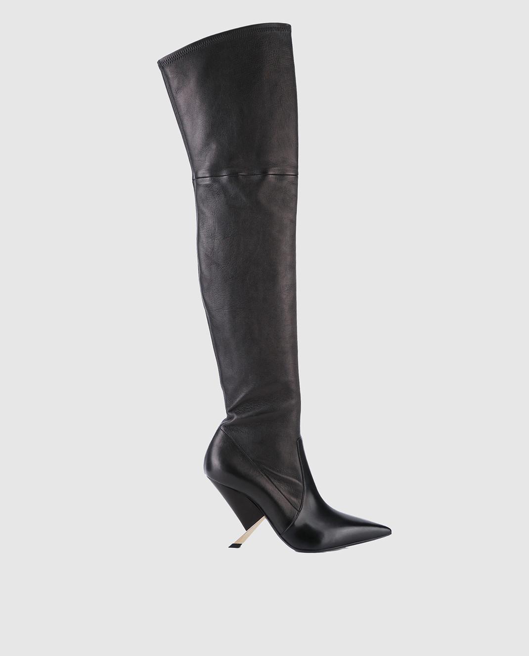 Casadei Черные кожаные ботфорты 1T722L090MPNAP