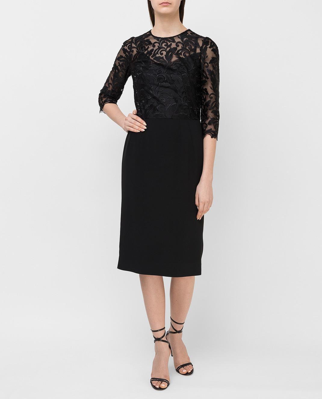 Dolce&Gabbana Черное платье F6VV0TFURDV изображение 2