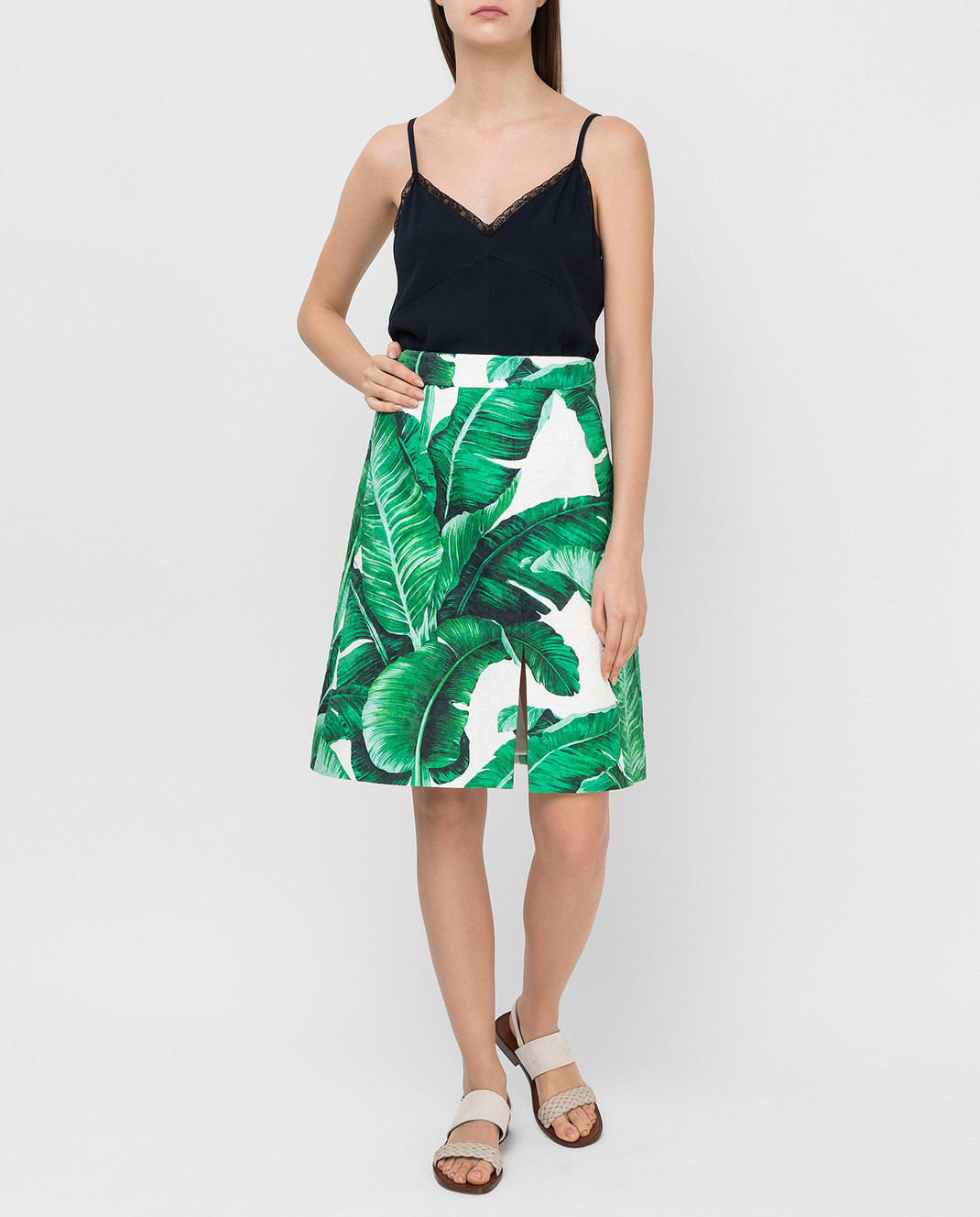 Dolce&Gabbana Зеленая юбка F4AKYTFSMY7 изображение 2
