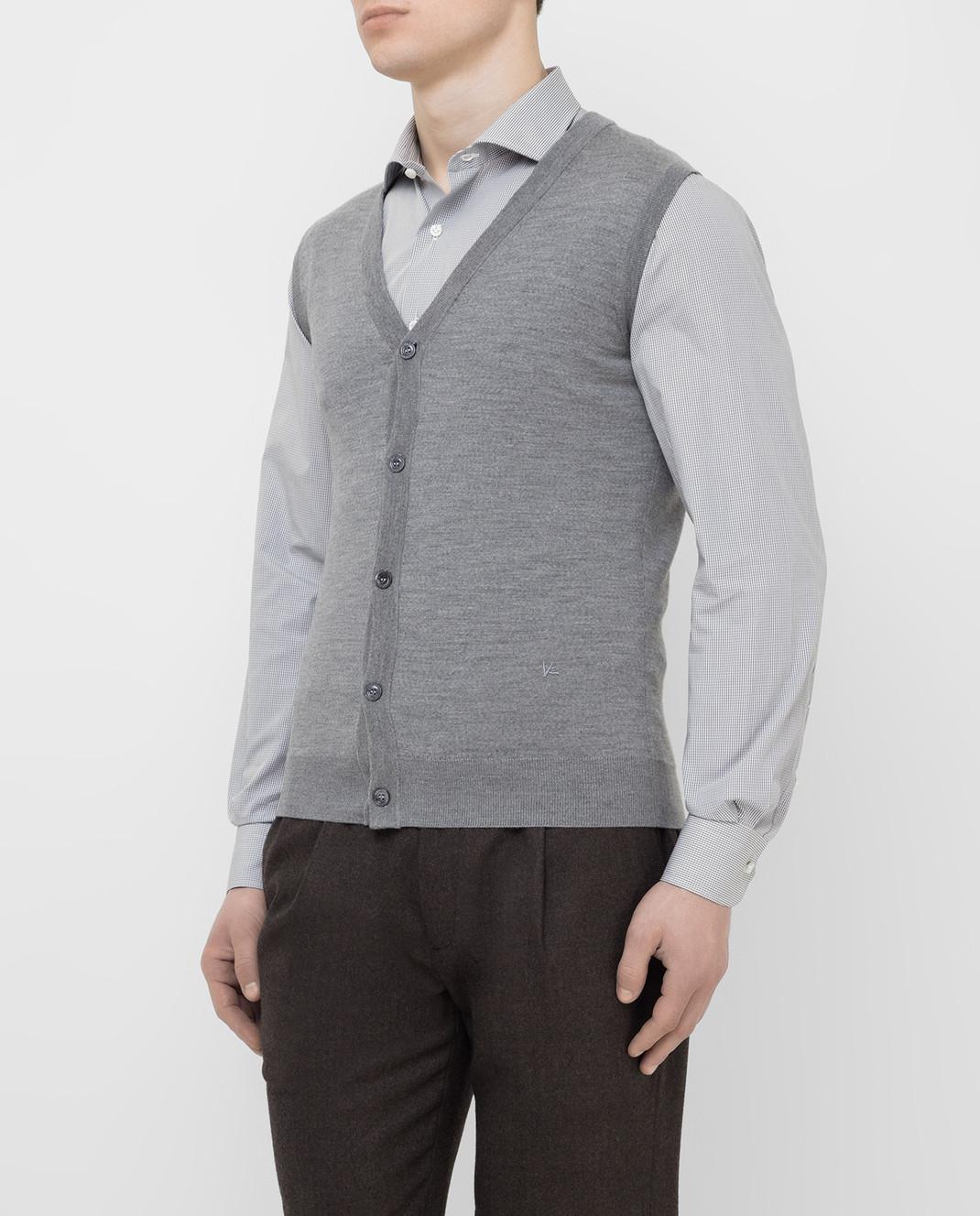 ISAIA Серый жилет из шерсти MG7051YP005 изображение 3