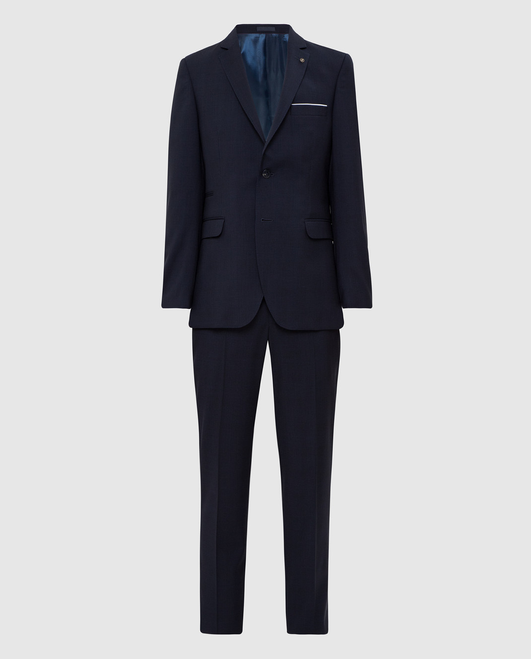 Florentino Темно-синий костюм из шерсти изображение 1