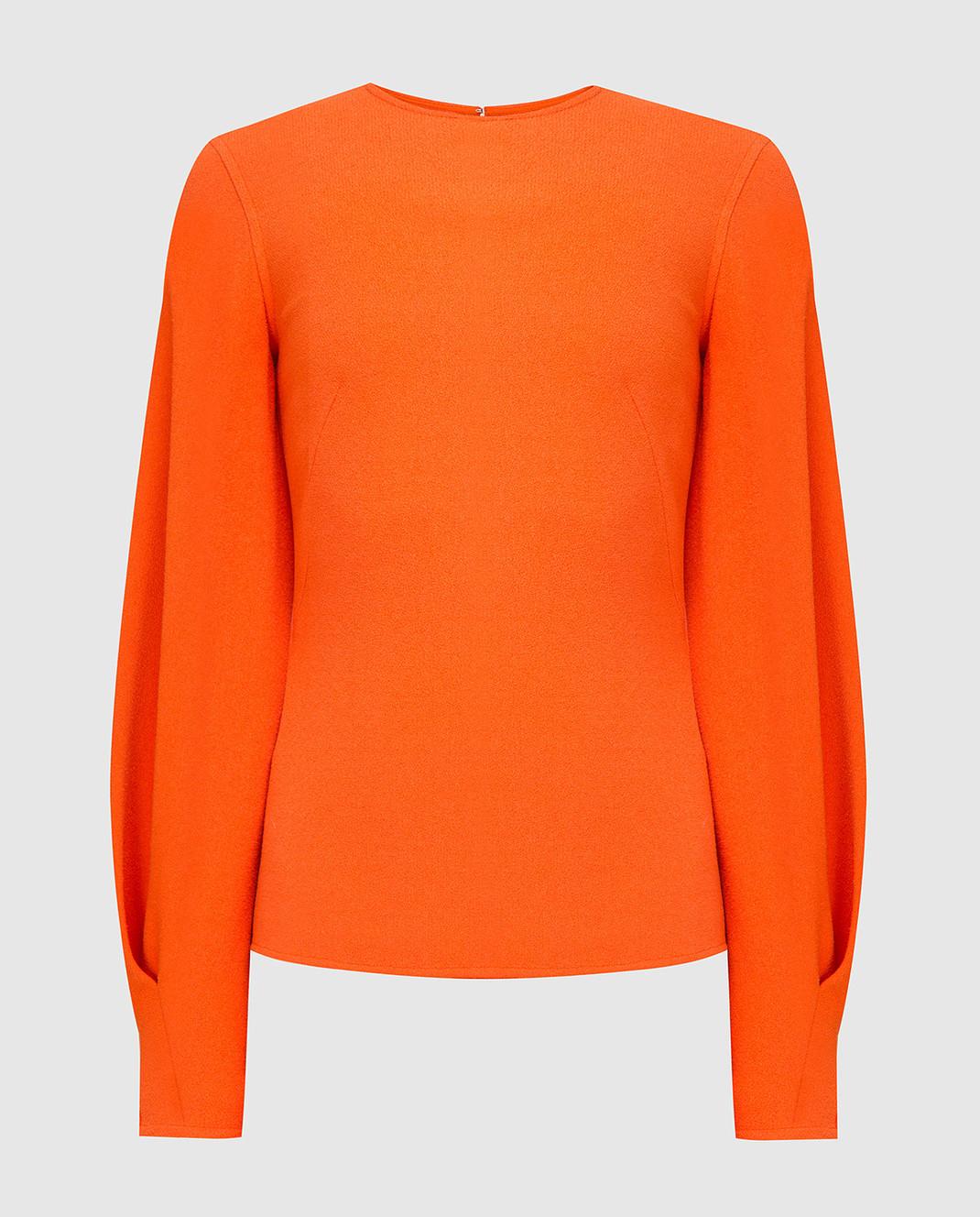Victoria Beckham Оранжевая блуза TPLNG1339
