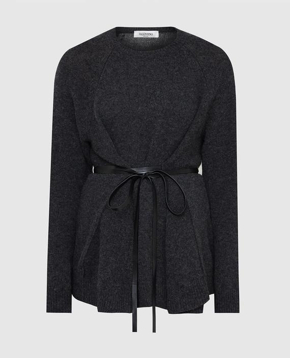 Темно-серый джемпер из шерсти и кашемира