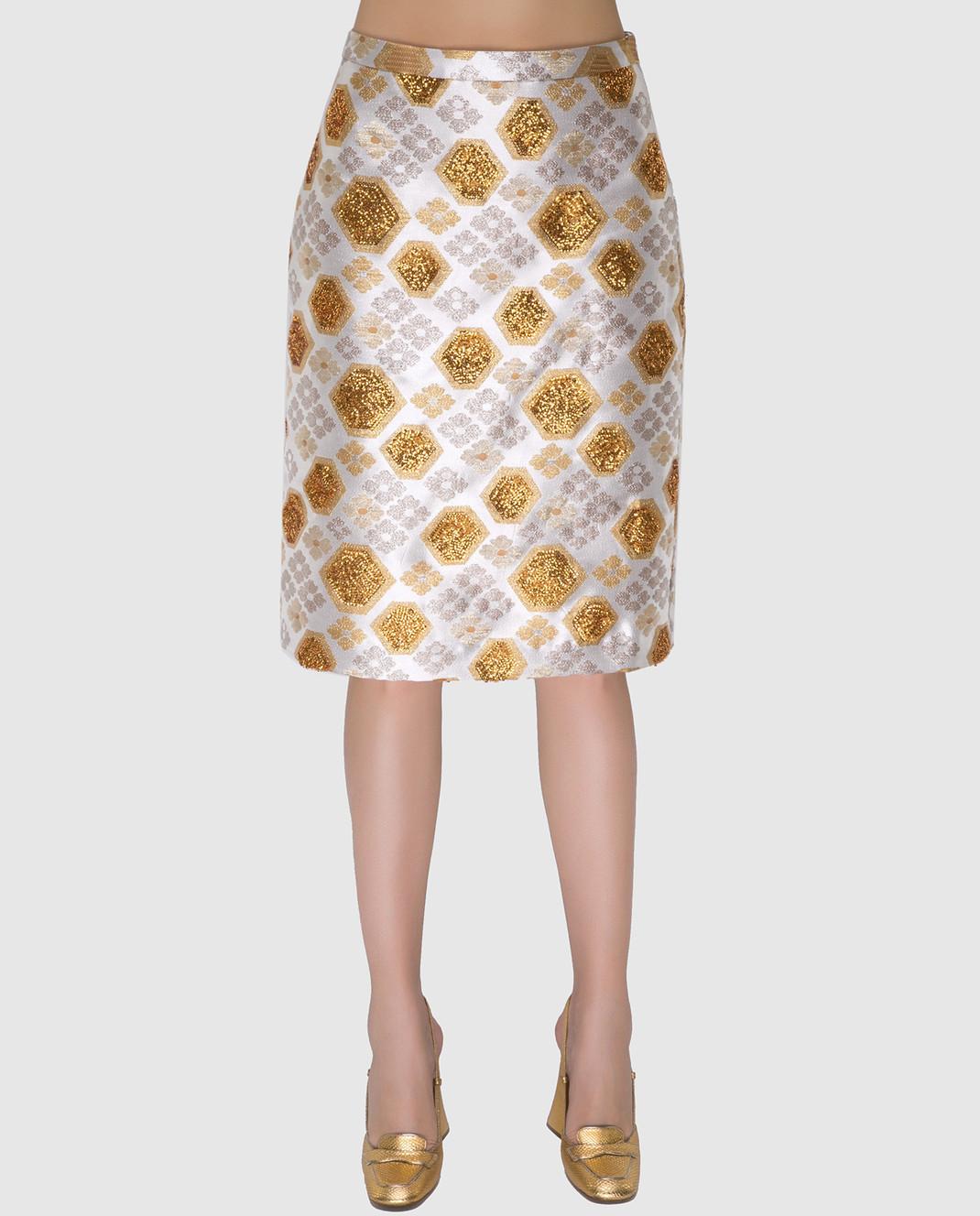 Manoush Светло-бежевая юбка PE7BROJ изображение 3