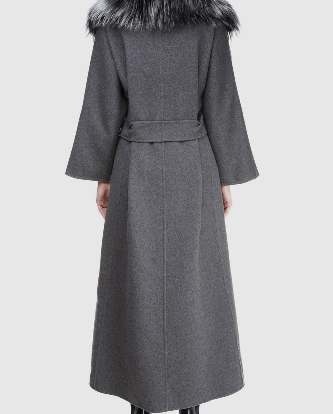 Rindi Серое пальто с мехом 261TE017 изображение 4