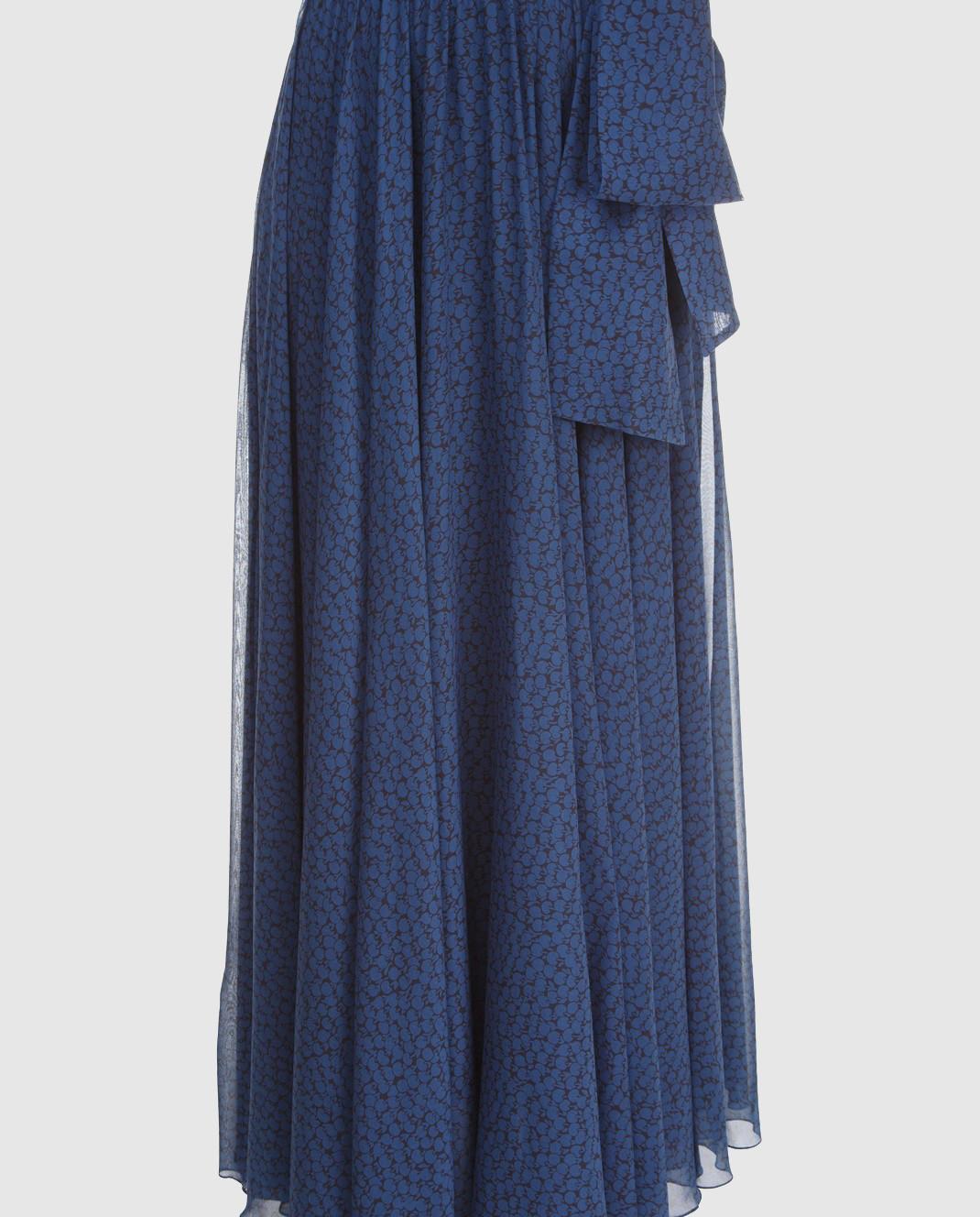 Alexander Terekhov Синяя юбка из шелка SK011 изображение 4