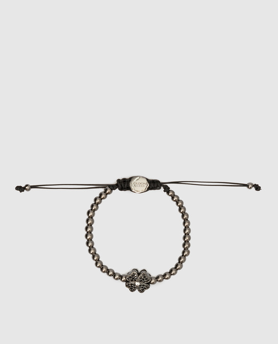 Серебристый браслет из латуни с кристаллами