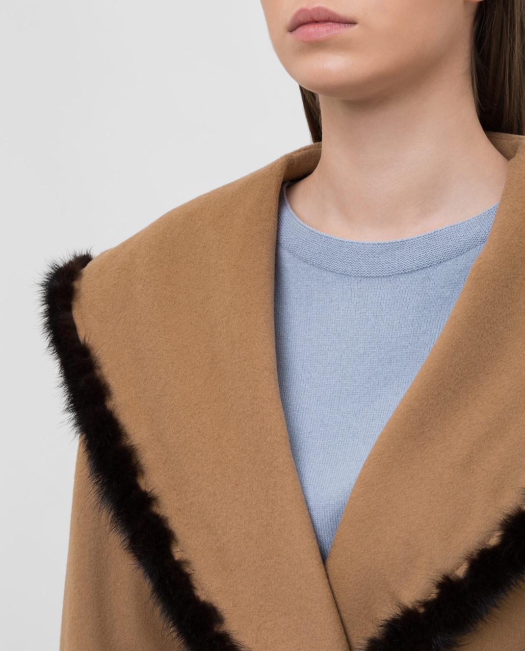 Heresis Бежевое пальто M33130VIA50 изображение 5