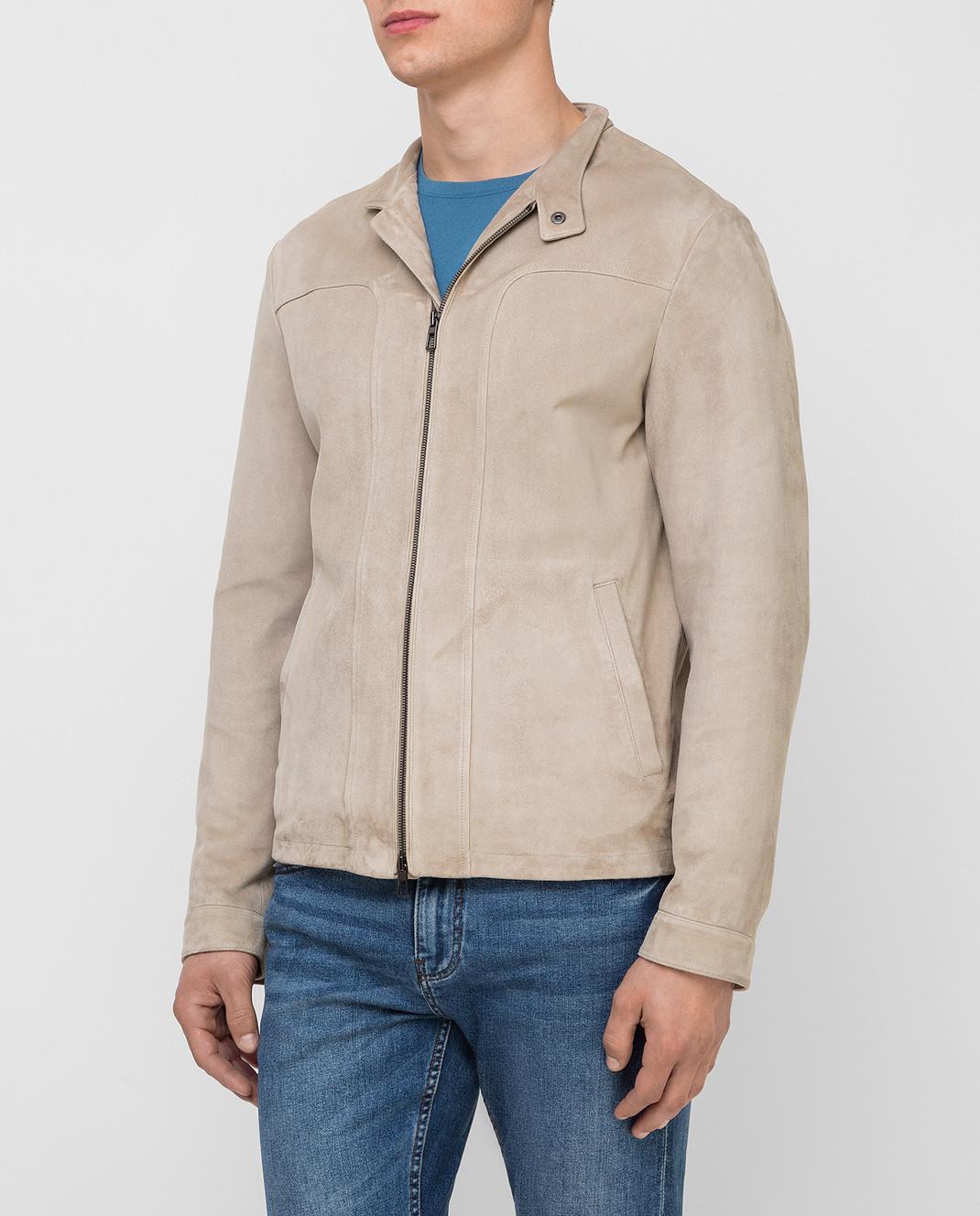 Loro Piana Светло-бежевая замшевая куртка F1FAG1790 изображение 3