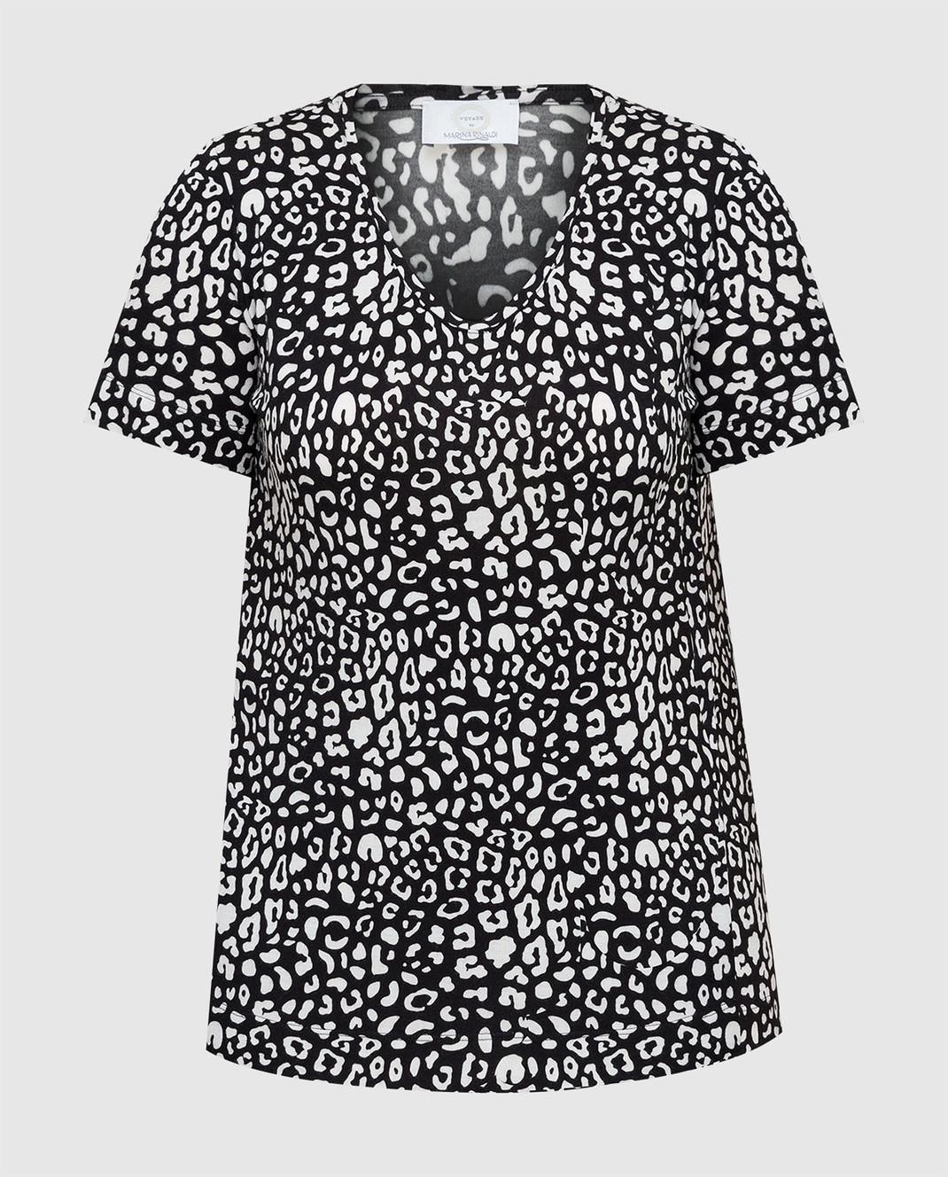 Marina Rinaldi Черная футболка изображение 1