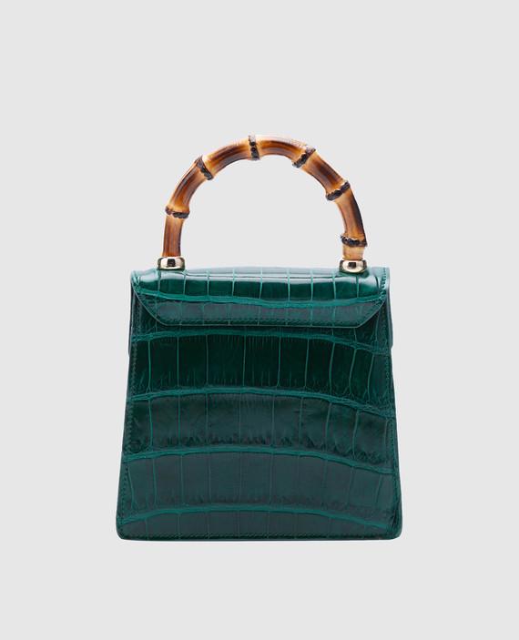 Зеленая кожаная сумка hover