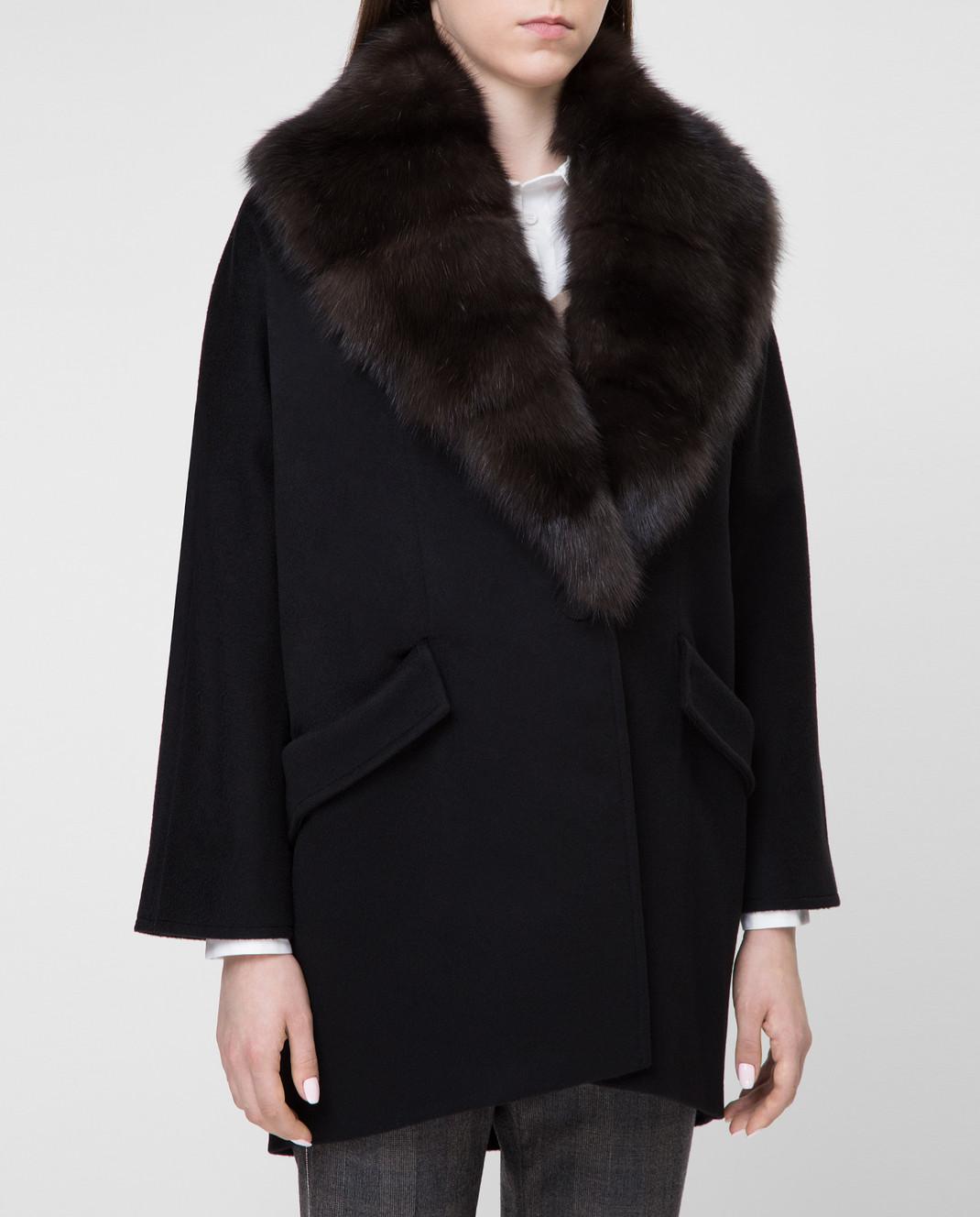 Real Furs House Пальто со съемным мехом QSR433 изображение 3