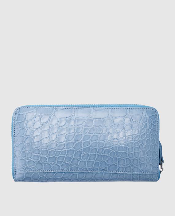 Голубой кожаный кошелек