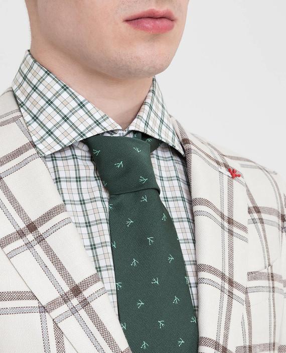 Зеленый галстук из шелка hover