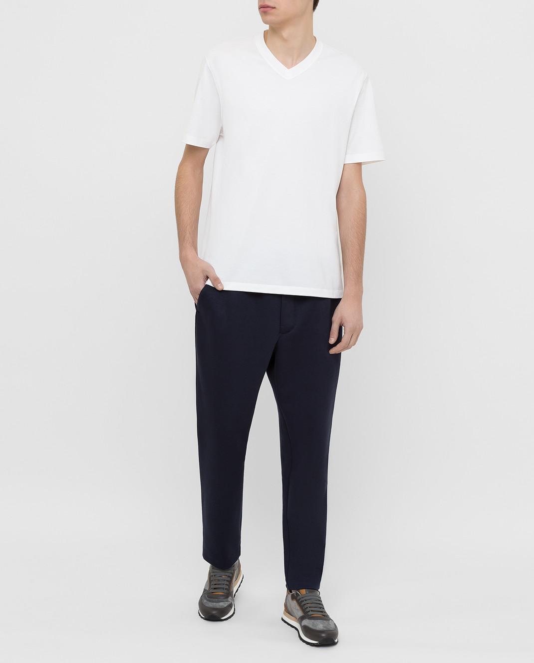 Moncler Темно-синие спортивные брюки 1146600829FC изображение 2