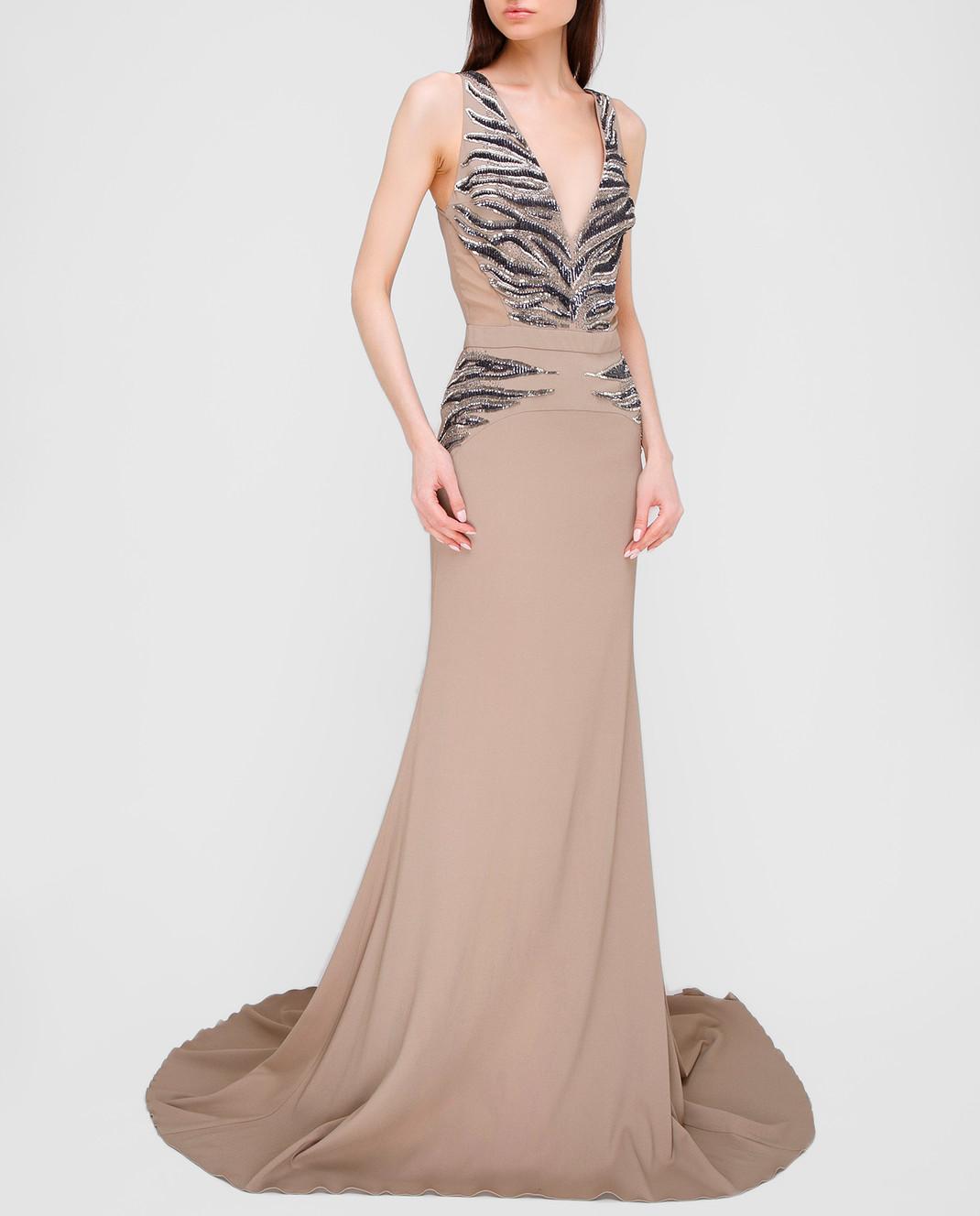Roberto Cavalli Серое платье XPR912 изображение 2