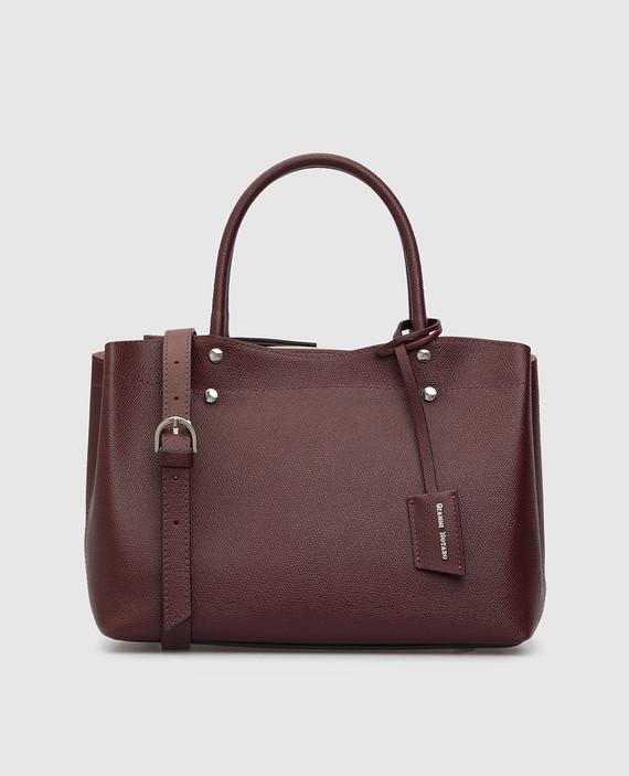 Бордовая кожаная сумка