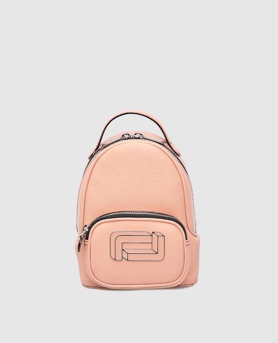 """Розовый кожаный рюкзак """"Mia"""""""
