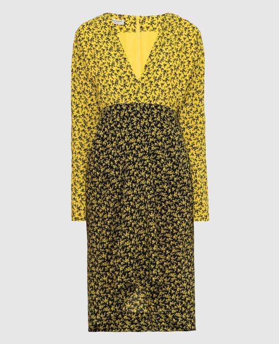 Желтое платье из шелка