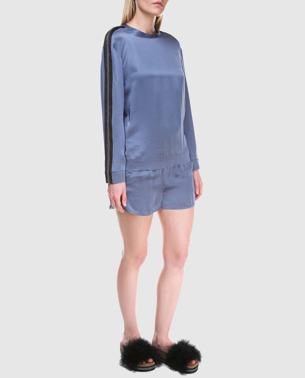 Brunello Cucinelli Синяя блуза M0H34S0720 изображение 2