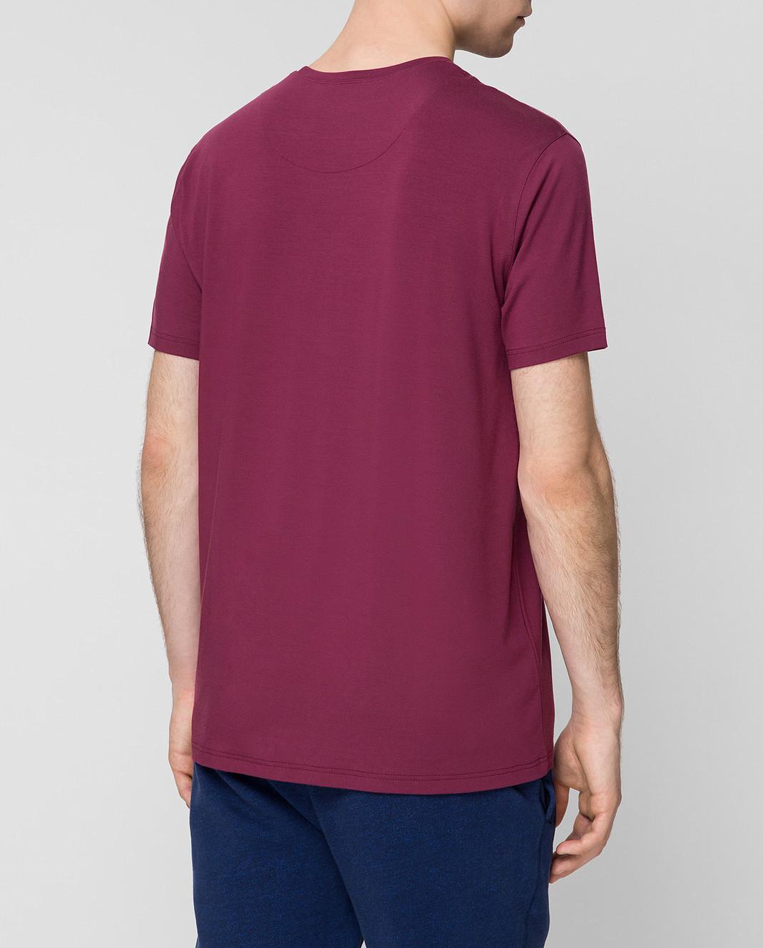 Derek Rose Бордовая футболка 3048BASE005 изображение 4