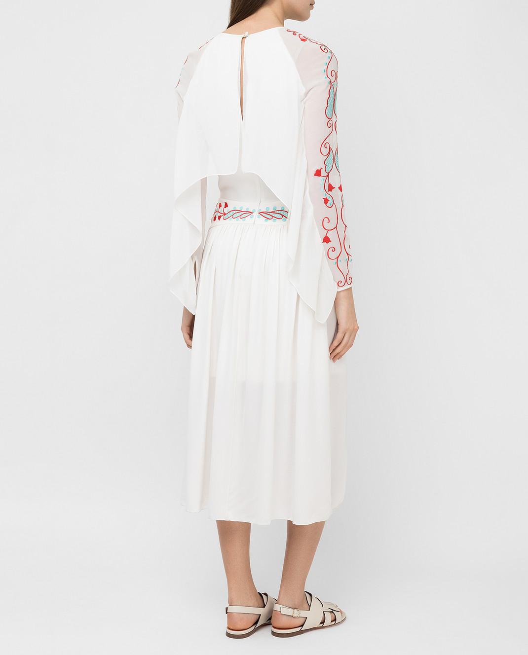 Temperley London Белое платье из шелка 16S73650959 изображение 4