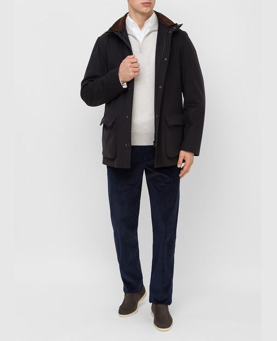 Черное пальто из кашемира hover