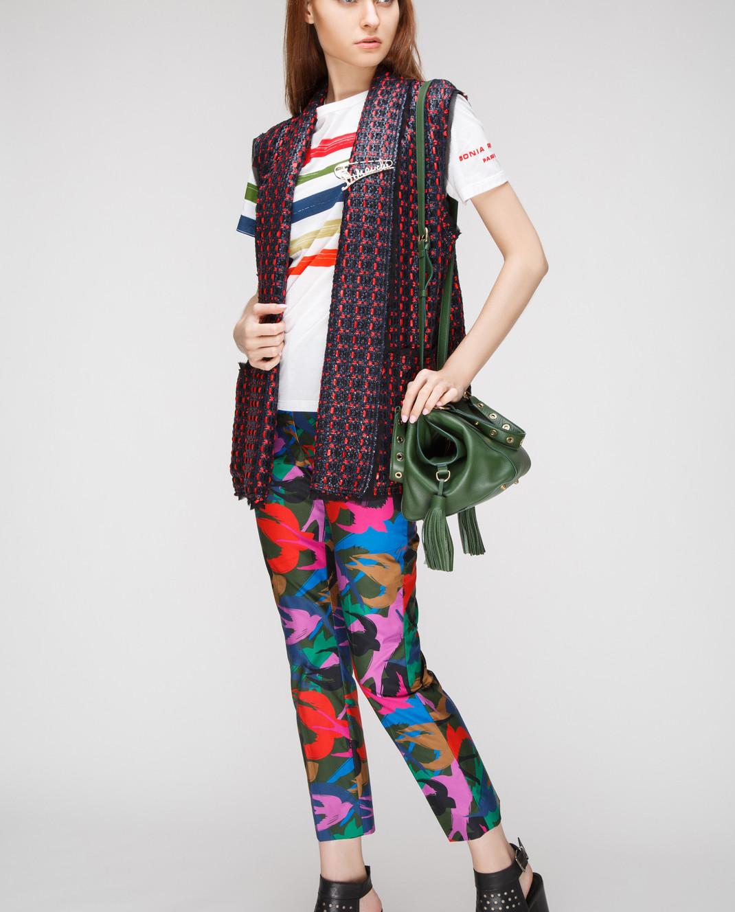 Sonia Rykiel Темно-зеленые брюки 15329342 изображение 2