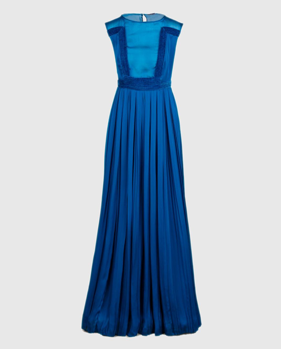 LARUSMIANI Синее платье из шелка 077581