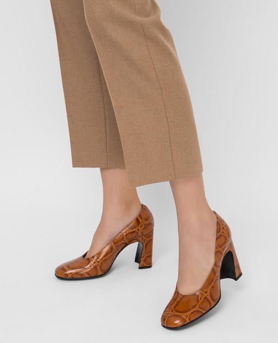 Коричневые кожаные туфли hover