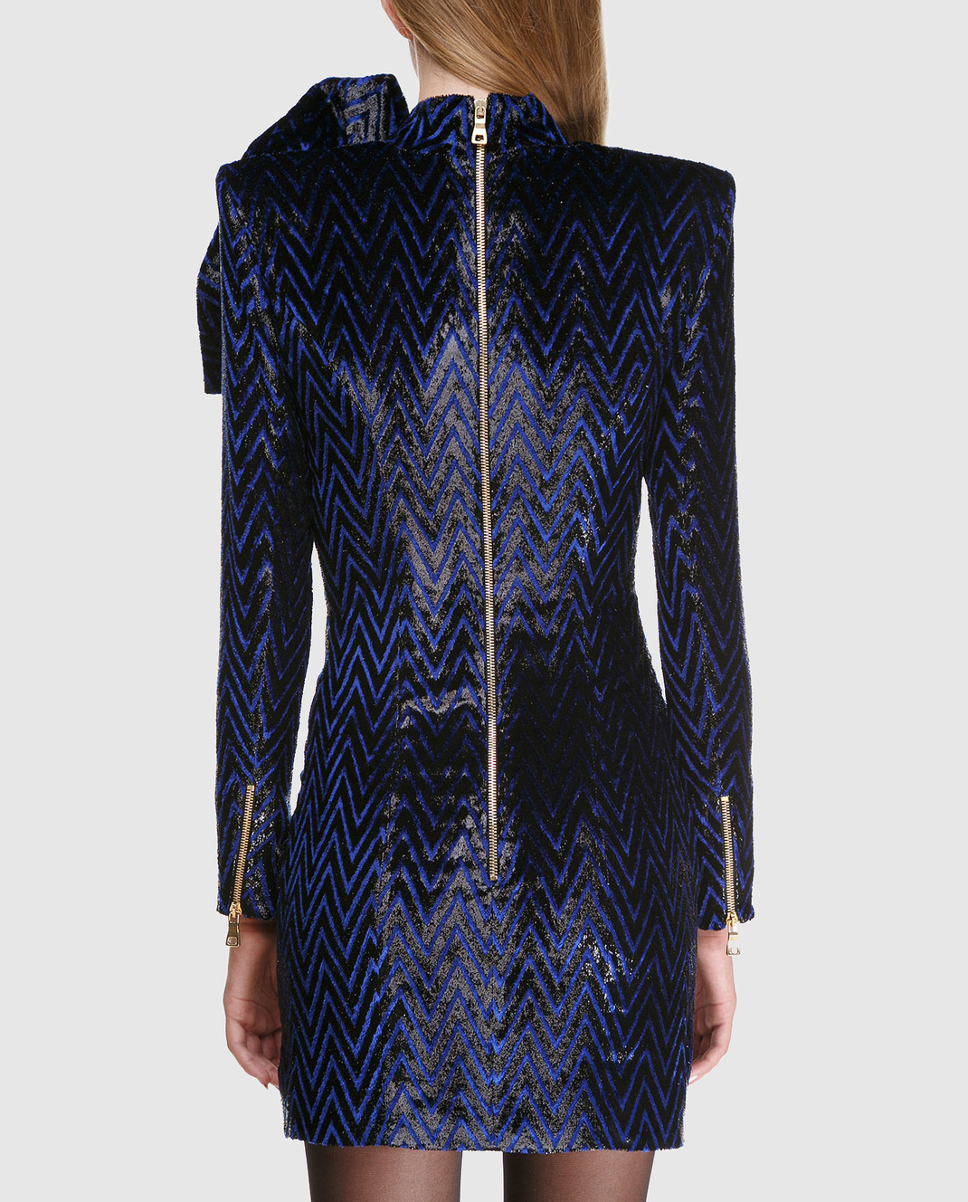 Balmain Синее платье с блестками 143140 изображение 4