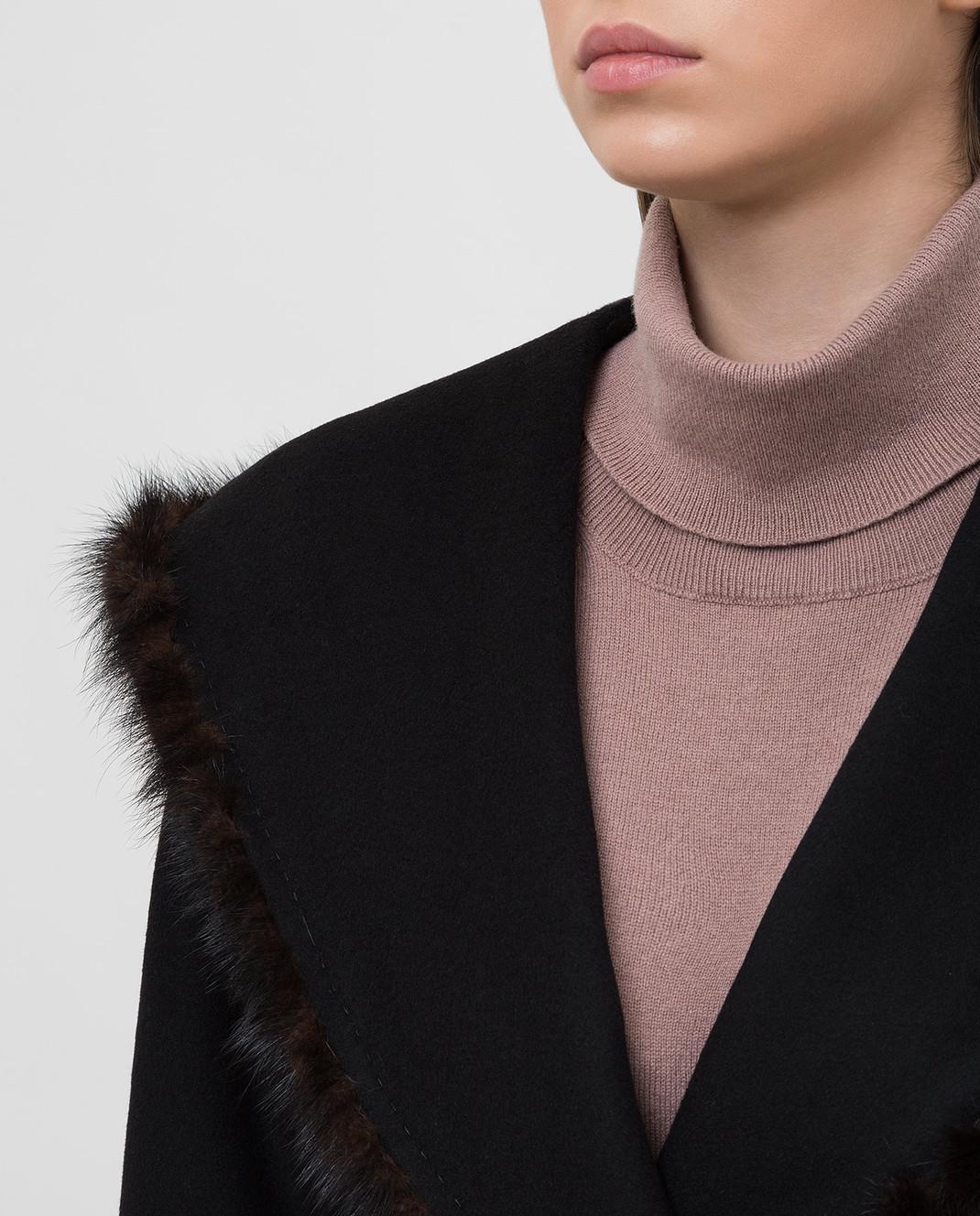 Heresis Черное пальто M33130VIA50 изображение 5