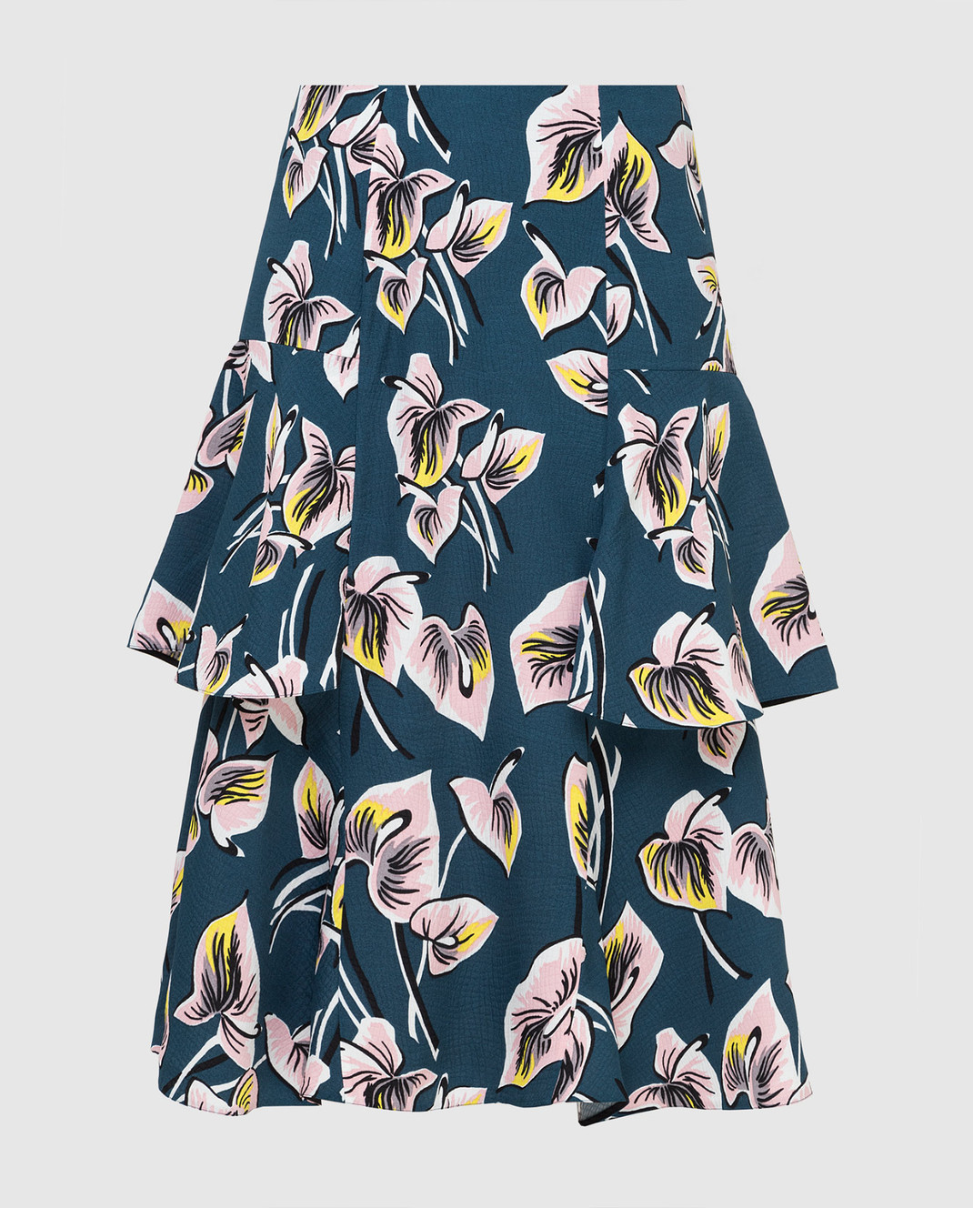 Marni Темно-бирюзовая юбка GOMAT39U00TV456