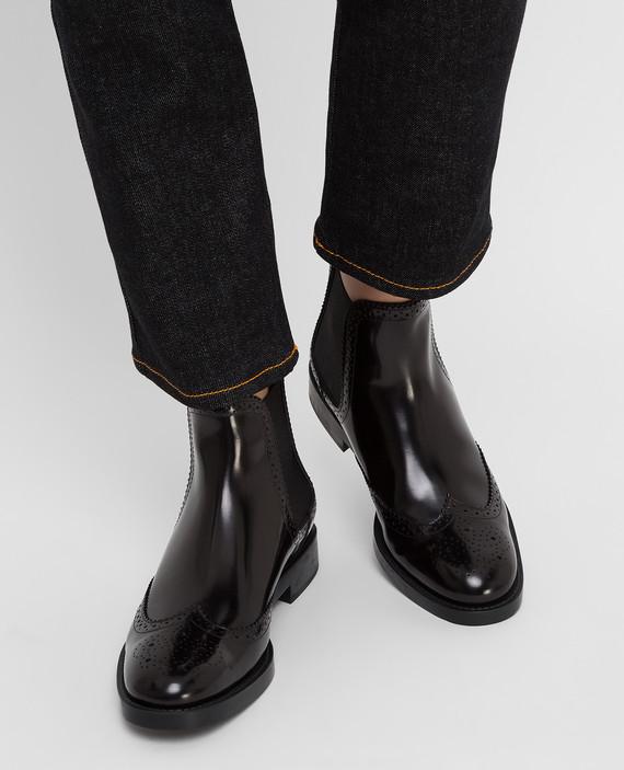 Черные кожаные челси hover