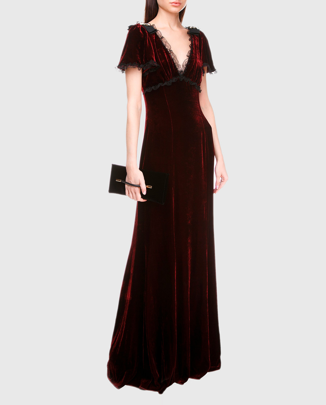 Dolce&Gabbana Бордовое платье F66E1ZFUVH9 изображение 2