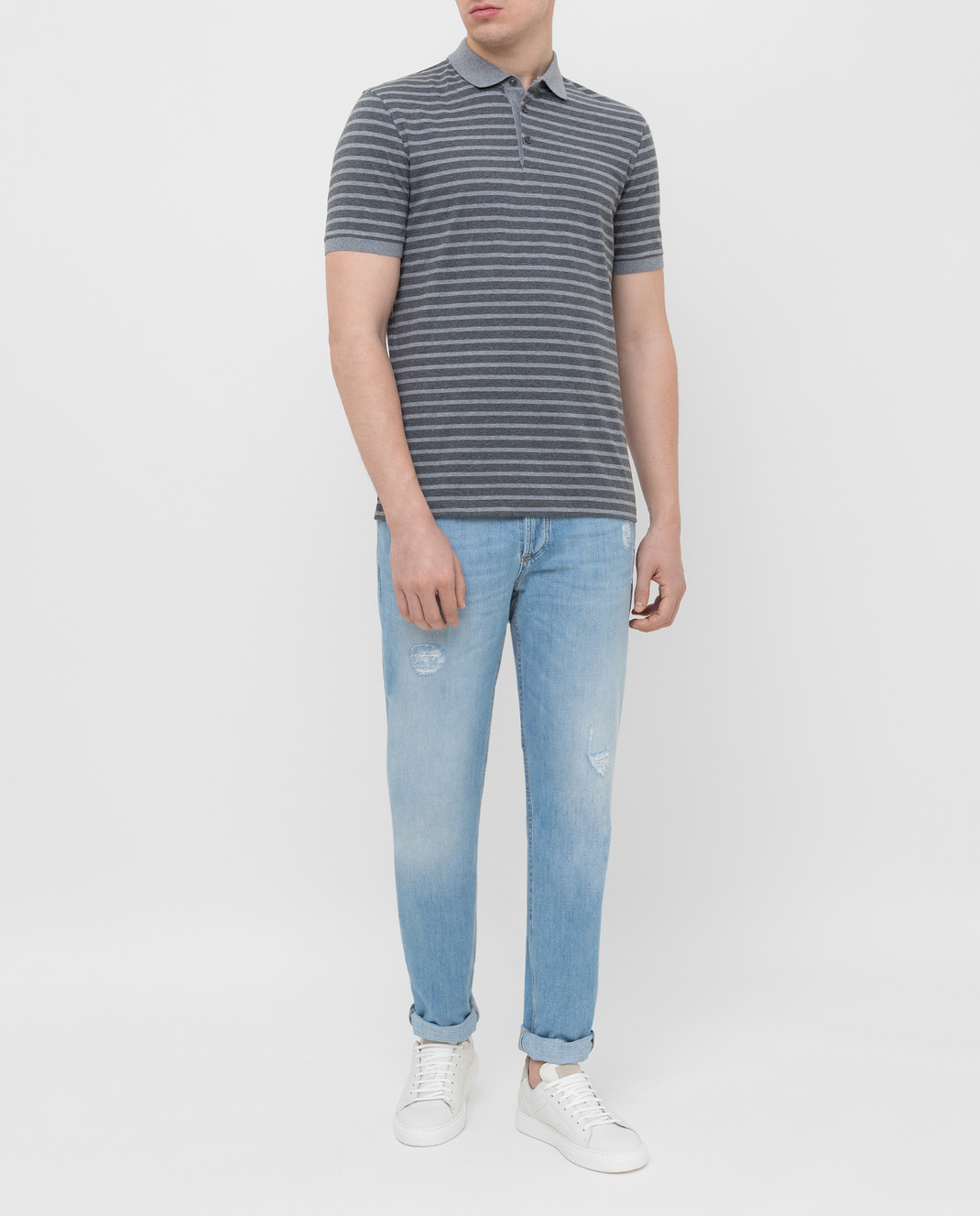Brunello Cucinelli Голубые джинсы M0Z37D2360 изображение 2
