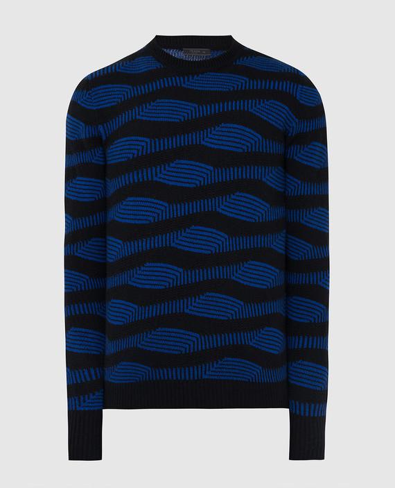 Черный свитер из шерсти и кашемира