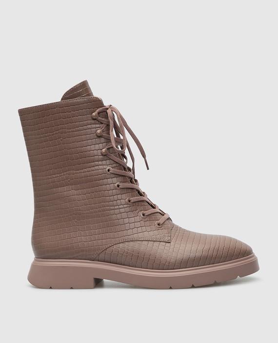 Темно-бежевые кожаные ботинки