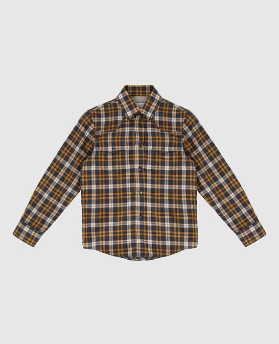 Детская темно-серая рубашка